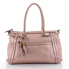 Gucci Bella Convertible Top Handle Bag Leather Small Pink 2455805