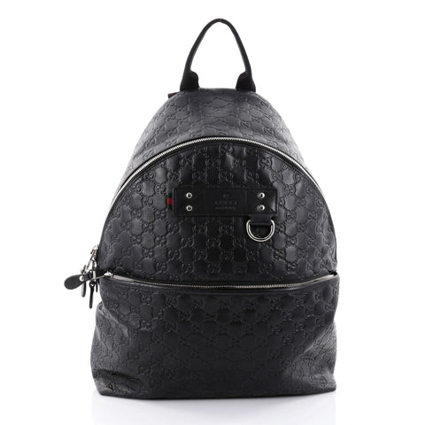 e199f78bf Buy Gucci Zip Pocket Backpack Guccissima Leather Medium 2461101 – Rebag