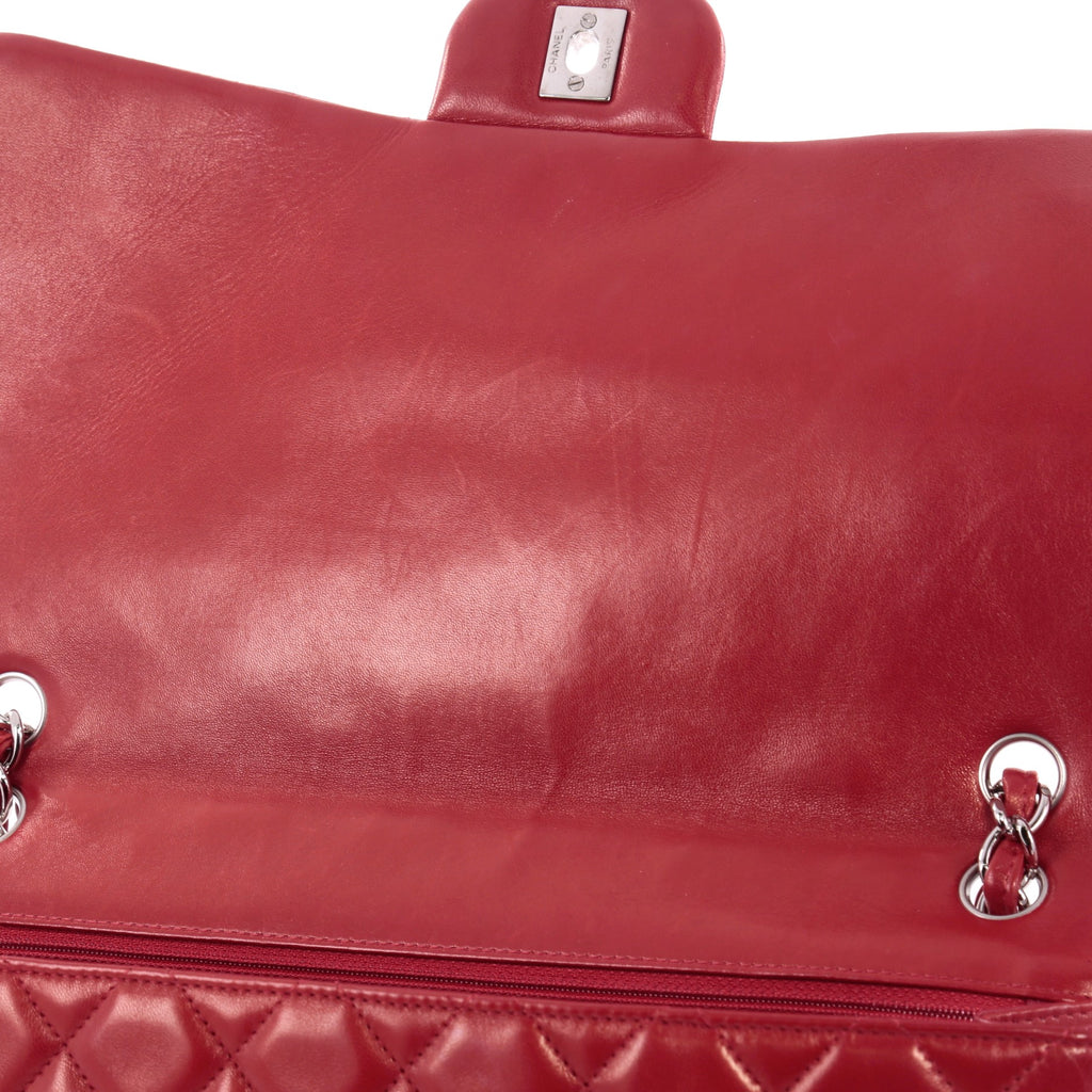 29c6da3c8323 Buy Chanel Classic Single Flap Bag Quilted Lambskin Maxi Red 2468613 ...