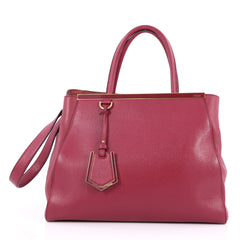 Fendi 2Jours Handbag Leather Medium Pink 2468614