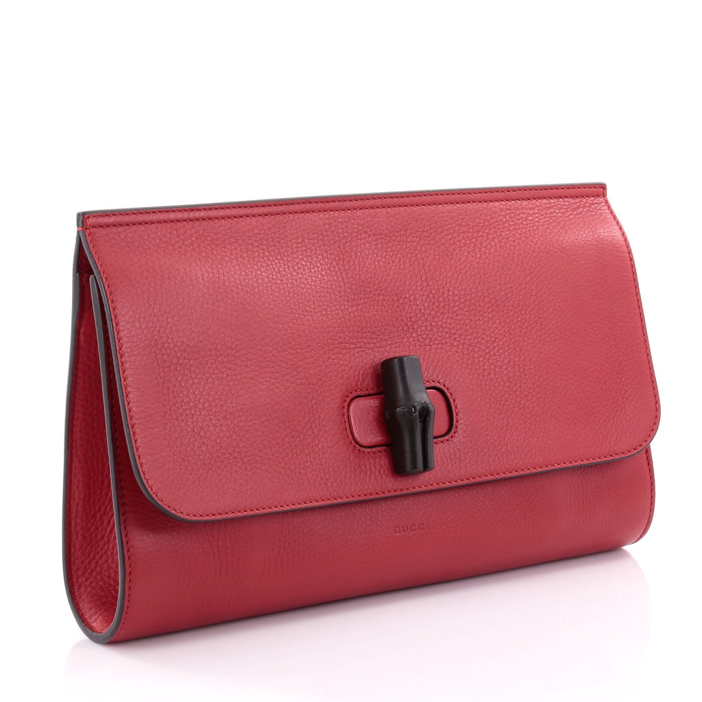 f432266893fd Buy Gucci Bamboo Daily Clutch Leather Red 2468803 – Rebag