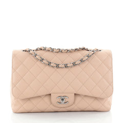 Chanel Classic Single Flap Bag Quilted Caviar Jumbo 2470311