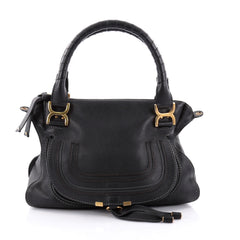 Chloe Marcie Satchel Leather Medium Black 2472001