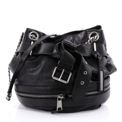 Alexander McQueen Faithful Bucket Bag Leather Black 2475102