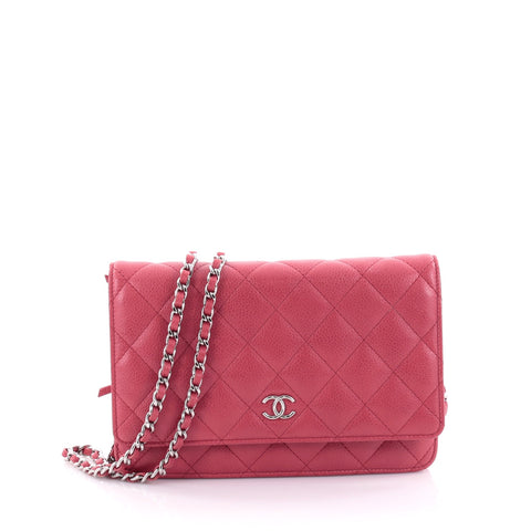 7facdef48bdb Buy Chanel Wallet on Chain Quilted Caviar Red 2476801 – Rebag