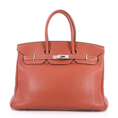 Eclat Birkin Handbag Clemence with Palladium Hardware 35