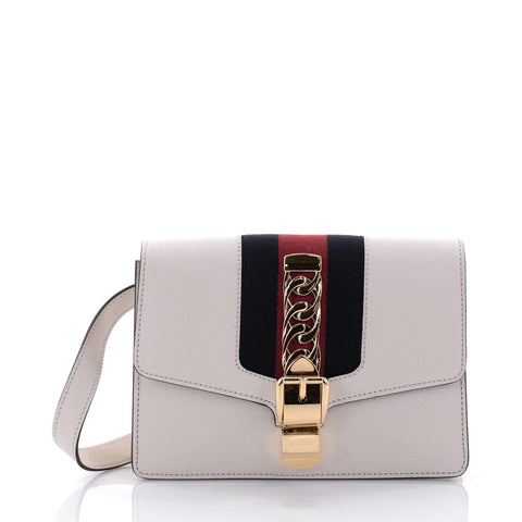 9082bf5241a8 Buy Gucci Sylvie Belt Bag Leather White 2477810 – Rebag