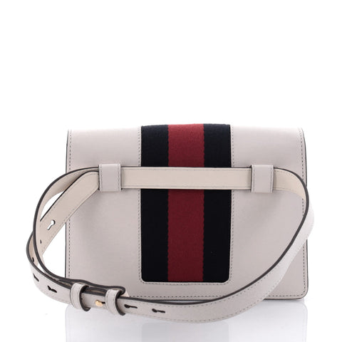 518dc9ab50a2 Buy Gucci Sylvie Belt Bag Leather White 2477810 – Rebag