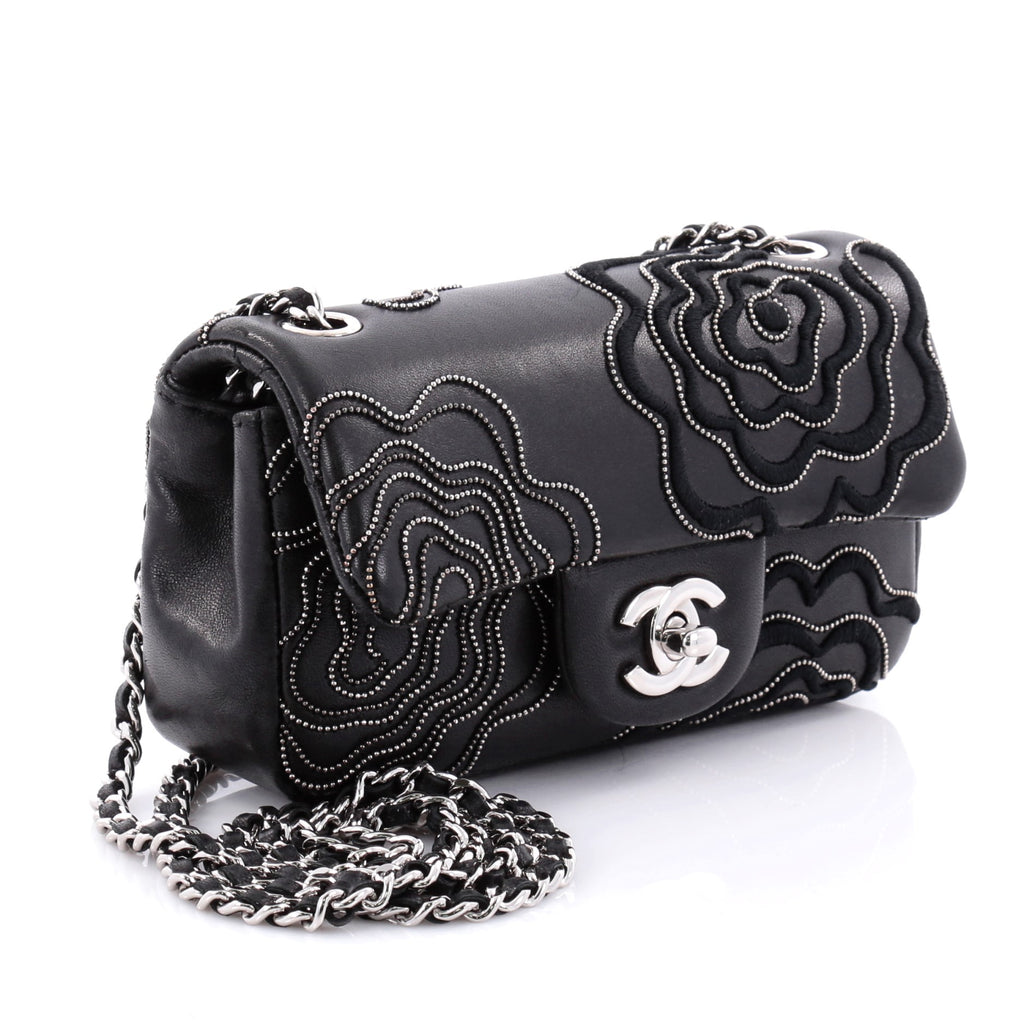 a65b7a684f8d Buy Chanel Camellia Follies Flap Bag Embroidered Lambskin 2477811