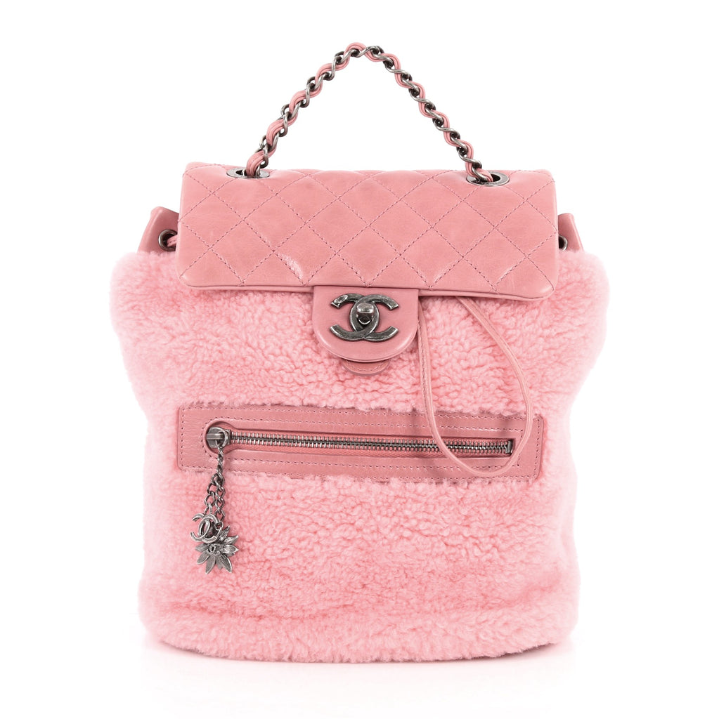 Buy Chanel Mountain Backpack Shearling with Quilted Calfskin 2479601 ... 93af5a0beee3c