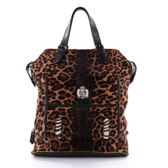 Christian Louboutin Syd Backpack Pony Hair Brown 2479901
