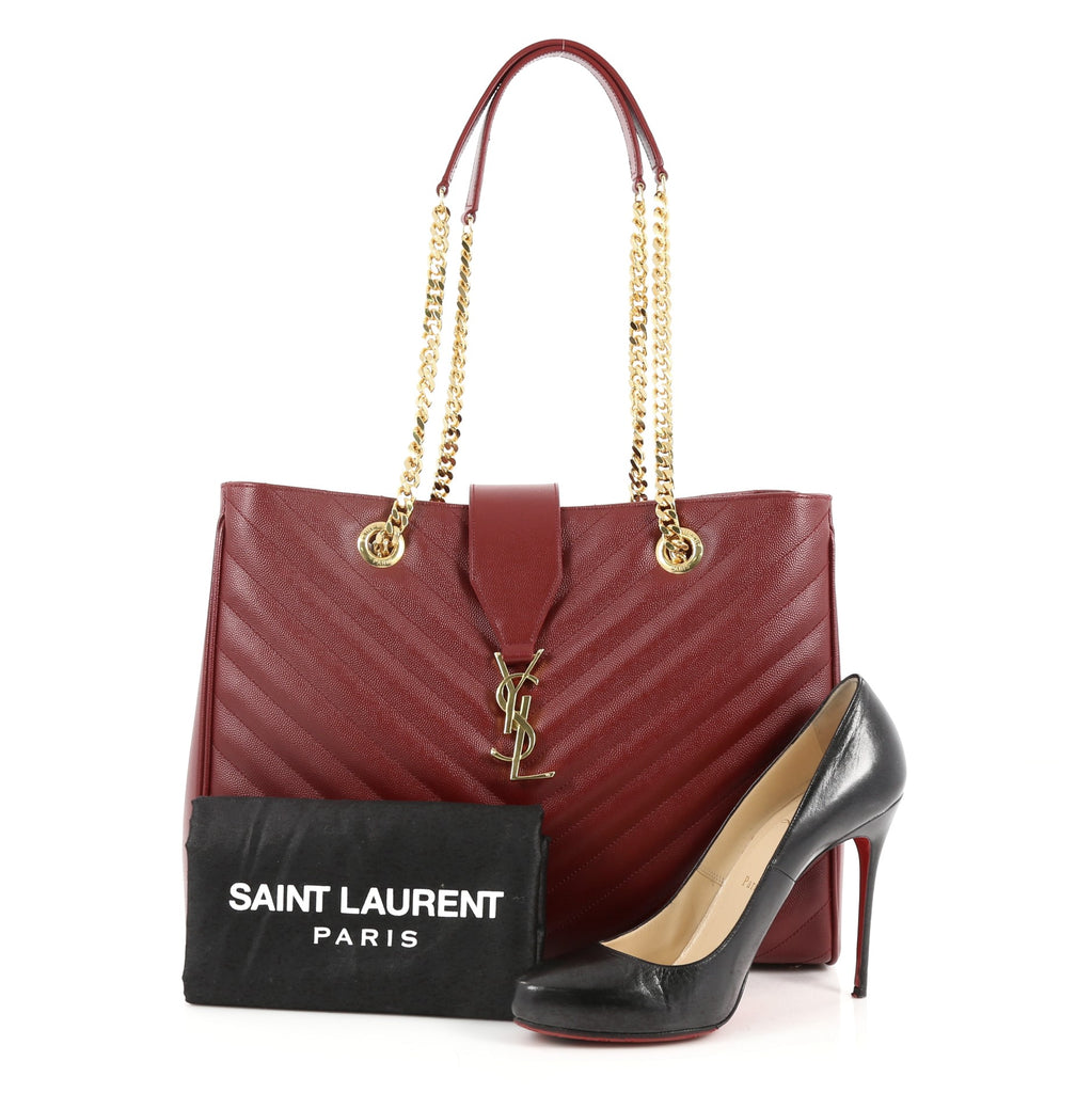 Buy Here Pay Here Ma >> Buy Saint Laurent Classic Monogram Shopper Matelasse Chevron 2480601 – Trendlee