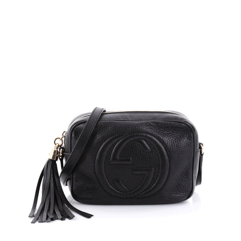 c13013473ba4a7 Buy Gucci Soho Disco Crossbody Bag Leather Small Black 2481708 – Rebag