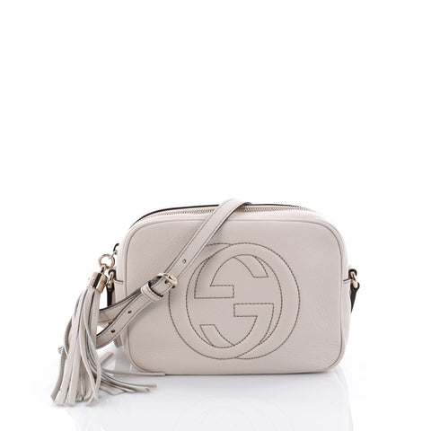 48ee7cc43f0deb Buy Gucci Soho Disco Crossbody Bag Leather Small White 2481710 – Rebag