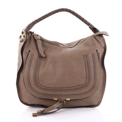 Chloe Marcie Hobo Leather Large Brown 2483301
