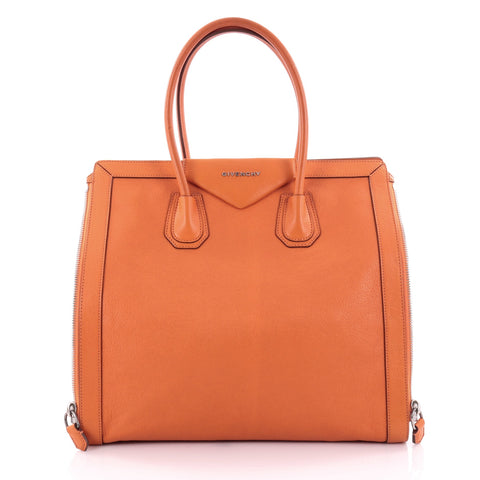 f7f19328f487 Buy Givenchy Antigona Side Zip Tote Leather Medium Orange 2484101 – Rebag