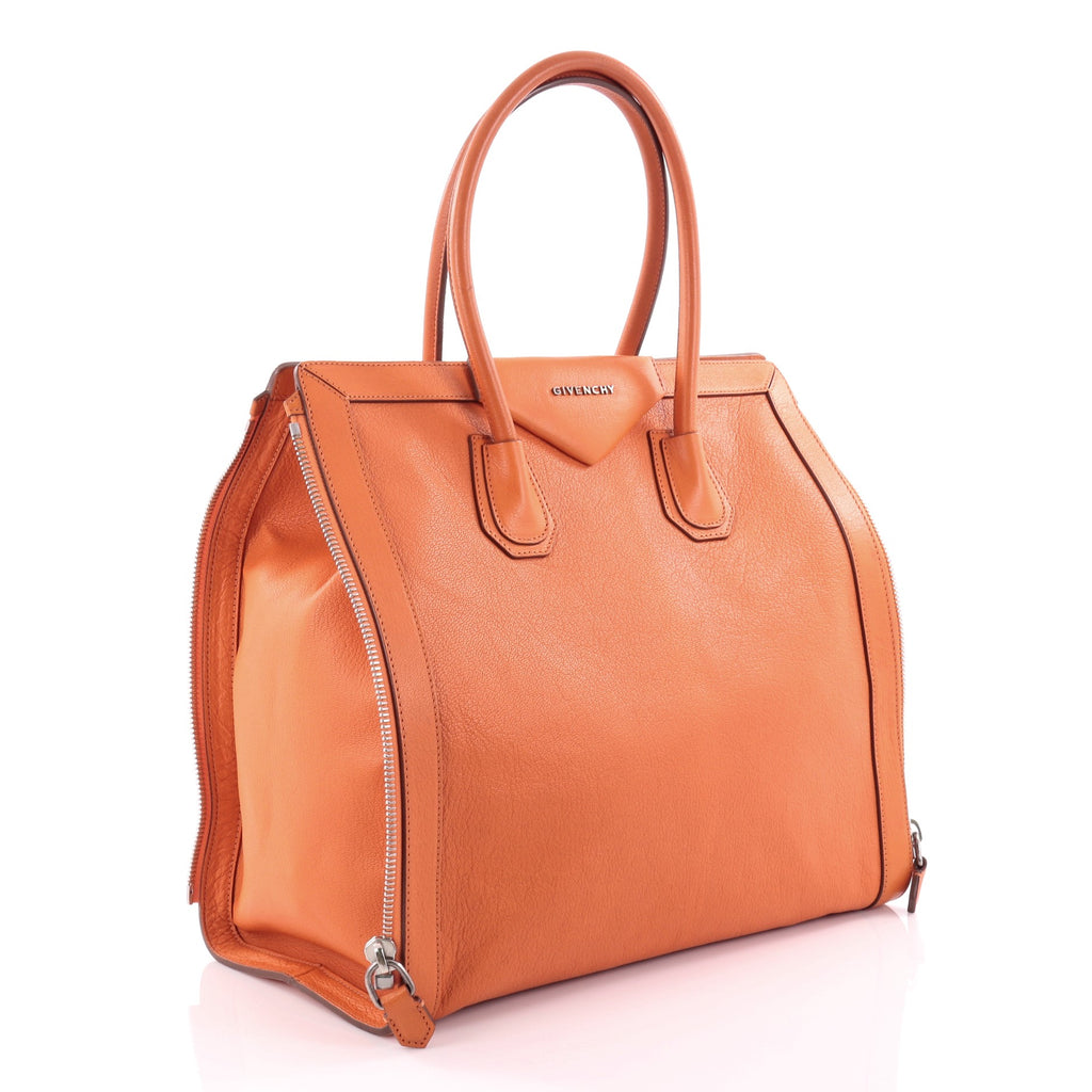 6b00d58f6fc0 Buy Givenchy Antigona Side Zip Tote Leather Medium Orange 2484101 ...