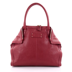 Alexander McQueen De Manta Tote Leather Mini Red 2484103