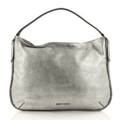 Jimmy Choo Zoe Hobo Leather with Snakeskin Silver 2484106