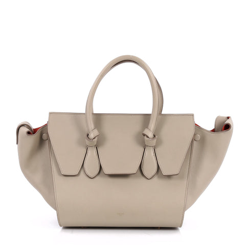 Buy Celine Tie Knot Tote Smooth Leather Mini Gray 2486201 – Rebag a1314f84ed