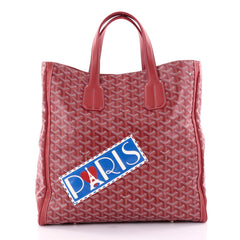 Goyard Voltaire Convertible Tote Painted Coated Canvas Red 2489802