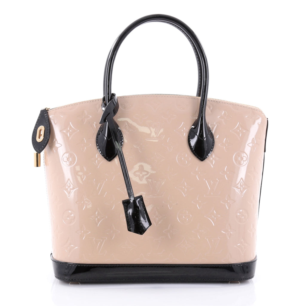 Buy Louis Vuitton Lockit Handbag Monogram Vernis PM Neutral 2491201 – Rebag d24d1eb87a401