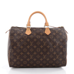 Louis Vuitton Speedy Handbag Monogram Canvas 35 Brown 2491901