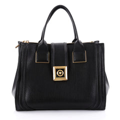 Versace New Icon Convertible Tote Leather Black 2492101