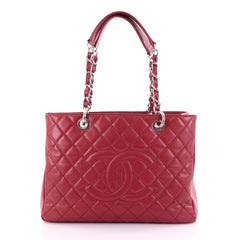 Chanel Grand Shopping Tote Quilted Caviar Red 2499701