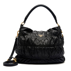 Prada Nappa Gaufre Hobo with Strap Large