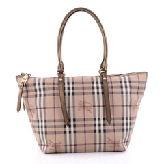 Burberry Salisbury Tote Haymarket Coated Canvas Small neutral 2510402