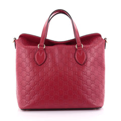 Buy Gucci Signature Fold Over Top Handle Bag Guccissima red 2510501