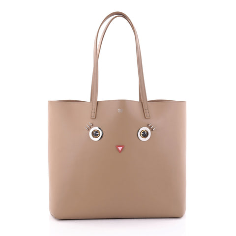 5e72fd33b Buy Fendi Faces Roll Tote Embellished Leather Large Neutral 2515301 – Rebag