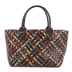 Bottega Veneta Cabat Tote Multicolor Intrecciato Goatskin Medium Red 2515901