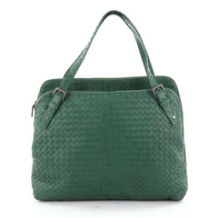 Bottega Veneta Double Compartment Tote Intrecciato Nappa Green 2516602