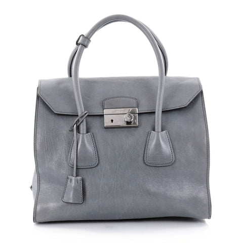 fca995fc75153 ... authentic buy prada twin pocket lock flap tote glace calf medium blue  2519701 rebag 1a717 8a50d