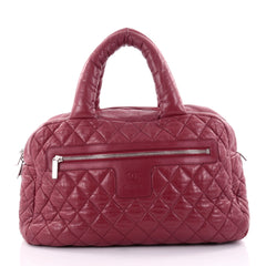 Chanel Coco Cocoon Bowling Bag Quilted Lambskin Large red 2525601