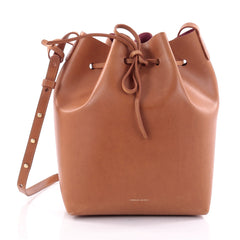 Mansur Gavriel Bucket Bag Leather Large Brown 2526601