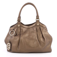 Gucci Sukey Tote Leather Medium Brown 2528201