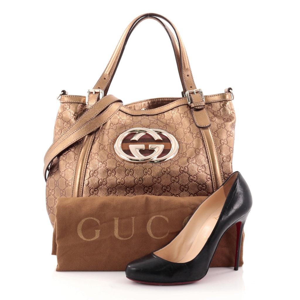 f039e138e57f Buy Gucci Britt Web Convertible Satchel Guccissima Leather 2531301 ...