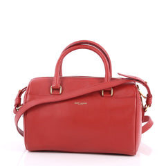 Saint Laurent Classic Baby Duffle Bag Leather Red 2535501