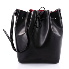 Mansur Gavriel Bucket Bag Leather Large Black 2536001