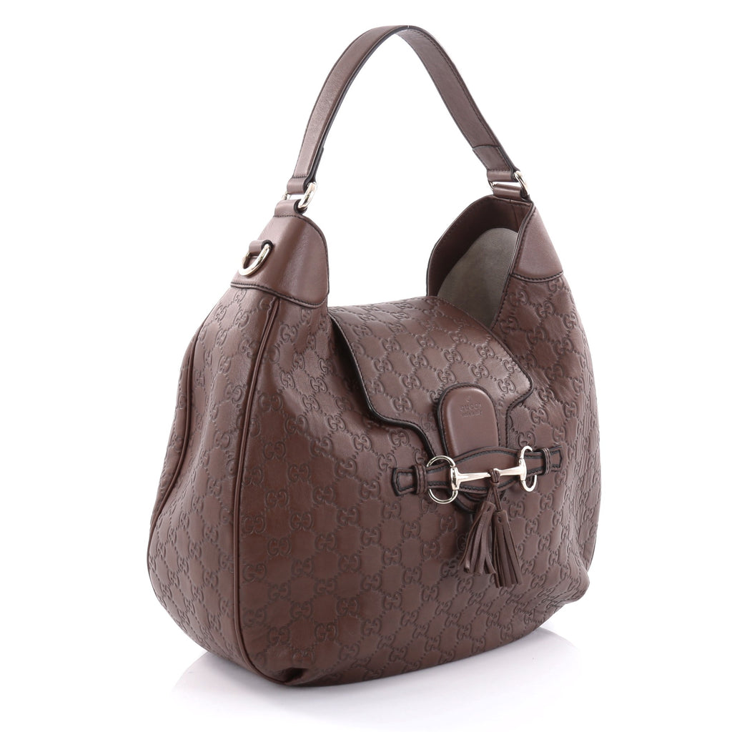 6359bed1595 Buy Gucci Emily Hobo Guccissima Leather Medium Brown 2537401 – Rebag
