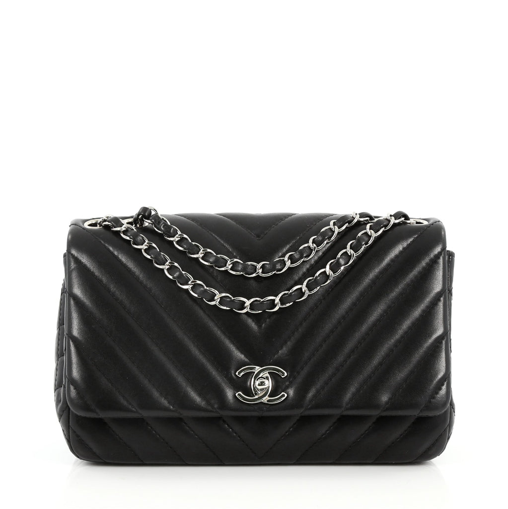 7038fa2e3bfc Buy Chanel Surpique Chevron Chain Flap Bag Quilted Lambskin 2539501 ...
