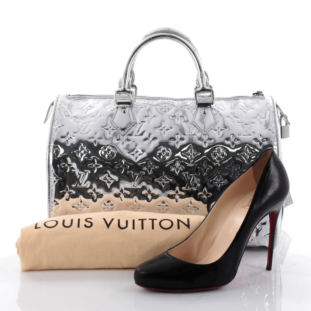 Buy louis vuitton speedy handbag miroir pvc 30 silver for Louis vuitton miroir speedy