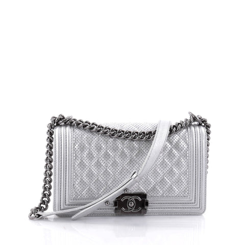 0ce8cf089f4b Buy Chanel Boy Flap Bag Quilted Perforated Lambskin Old 2541601 – Rebag