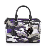 Christian Dior Polochon Satchel Limited Edition Anselm Reyle Camouflage Canvas Medium Gray 2542301