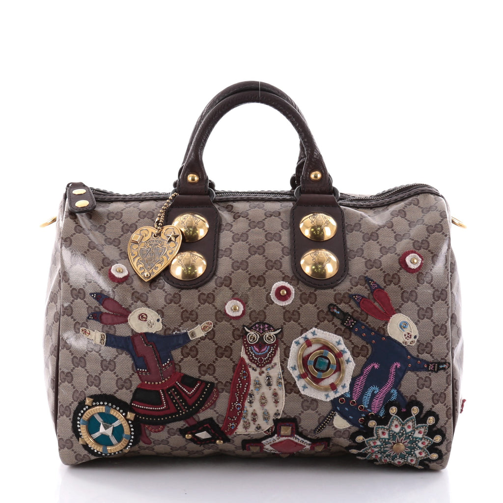d2df96ce5a5 Buy Gucci Babouska Boston Bag Embellished GG Coated Canvas 2544901 ...