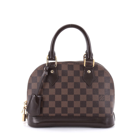 3e22bc6642d3 Buy Louis Vuitton Alma Handbag Damier BB Brown 2550203 – Rebag