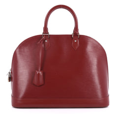 Louis Vuitton Alma Handbag Epi Leather GM Red 2550404